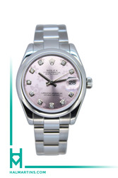 Rolex Midsize Stainless Steel Datejust - Pink Diamond Dial - Ref. 178240
