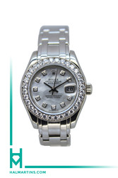 Rolex Ladies 18K White Gold Pearlmaster Datejust - MOP Diamond Dial - Ref. 80299