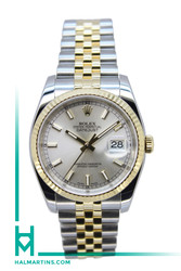 Rolex Men's Two Tone Datejust 36mm - Silver Baton Dial - Ref. 116233