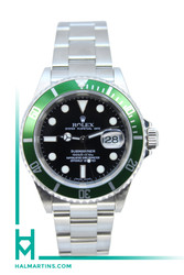 Rolex Men's Stainless Steel Submariner Date Anniversary - Green Bezel and Black Dial - Ref. 16610T