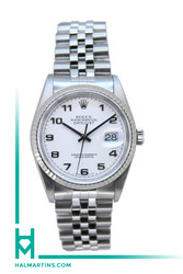 Rolex Stainless Steel Datejust - White Arabic Dial - Ref. 16234