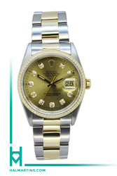Rolex Two Tone Datejust 36mm - Champagne Diamond Dial - Ref. 16233 (Item 11244)