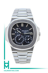Patek Philippe Stainless Steel Nautilus Moon Phase - Dark Blue Embossed Dial - Ref. 5712/1A-001