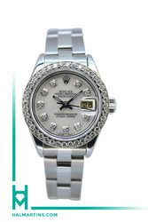 Rolex Ladies Datejust Stainless Steel - Diamond Bezel and Dial - Ref. 69174