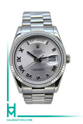 Rolex Men's 18K White Gold Day-Date President - Silver Dial - Ref. 118239