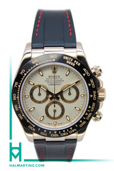 Rolex Men's 18K Everose Gold Cosmograph Daytona - Black Rubber Strap - Ref. 116515
