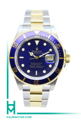 Rolex Men's Submariner Date Two Tone - Blue Dial and Blue Bezel - Ref. 16613 (Item 11600)