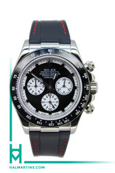 Rolex Men's 18K White Gold Cosmograph Daytona - Black Rubber Strap - Ref. 116515