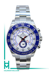 Rolex Stainless Steel Yacht-Master II - Blue Ceramic Bezel and White Dial - Ref. 116680