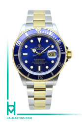 Rolex Two Tone 18K and Stainless Steel Submariner - Blue Bezel and Dial - Ref. 16613