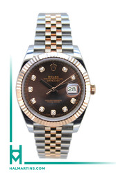 Rolex Two Tone Everose and Stainless Steel Datejust  41 - Two Tone Jubilee Bracelet and Chocolate Diamond Dial - Ref. 126331