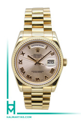 Rolex 18k Rose Gold Day-Date President - Rose Dial - Ref. 118235