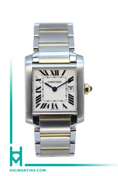 Cartier Midsize Tank Francaise Two Tone - White Dial - Ref. 2465
