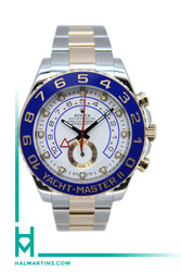 Rolex Two Tone Everose and Stainless Steel Yacht-Master II - White Dial - Ref. 116681