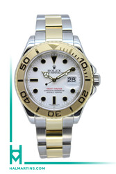 Rolex Two Tone Yacht-Master - White Dial with Black Onyx Markers - Ref. 16623