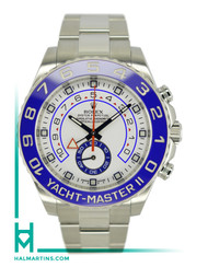 Rolex Stainless Steel Yacht-Master II - White Dial and Blue Cerachrom Bezel - Ref. 116680