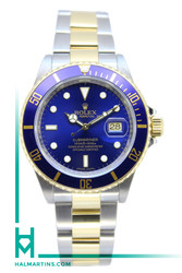 Rolex Two Tone Submariner Date - Blue Dial and Bezel - Ref. 16613