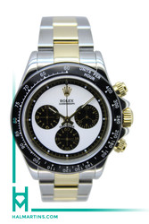 Rolex Two Tone Comograph Daytona Automatic - Aftermarket Panda Dial and Ceramic Bezel - Ref. 116523