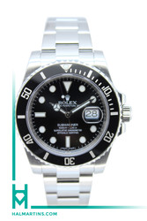 Rolex Stainless Steel Submariner Date - Black Dial and Cerachrom Bezel - Ref. 116610