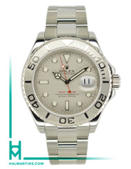 Rolex Stainless Steel Yacht-Master - Platinum Bezel and Dial - Ref. 16622 (Item 11640)