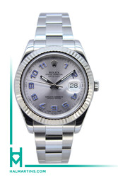 Rolex Stainless Steel Datejust II 41mm - Silver Arabic Dial - Ref. 116334
