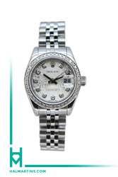Rolex Stainless Steel Lady Datejust 26mm - Silver Jubilee Diamond Dial - Ref. 178274