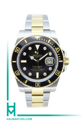 Rolex Two Tone Submariner Date - Black Cerachrom Bezel and Diamond Dial - Ref. 116613