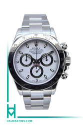 Rolex Stainless Steel Cosmograph Daytona - White Dial - Ref. 116520