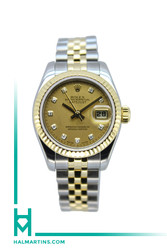 Rolex Lady Datejust Two Tone - Champagne Diamond Dial - Ref. 179173