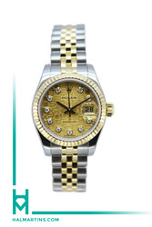 Rolex Ladies Two Tone Datejust 26mm - Champagne Jubilee Diamond Dial - Ref. 179173