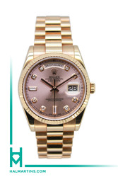 Rolex 18K Rose Gold President Day-Date - Pink Diamond Dial - Ref. 118235