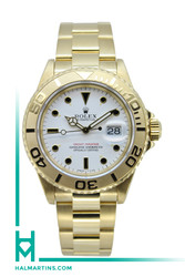 Rolex 18K Yellow Gold Yacht-Master - White Dial - Ref. 16628