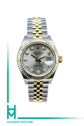 Rolex Ladies Datejust Two Tone 28mm - Silver Dial - Ref. 279173