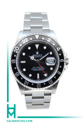 Rolex Stainless Steel GMT Master - Black Dial and Black Bezel - Ref. 16700
