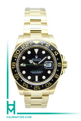 Rolex 18K Yellow Gold GMT Master II - Black Ceramic Bezel and Dial - Ref. 116718
