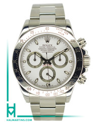 Rolex Stainless Steel Cosmograph Daytona - White Dial - Ref. 116520 (Item 11868)