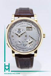 A. Lange and Sohne 18K RG Lange 1 Time Zone - Silver Dial - Ref. 116.032