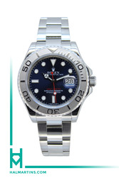 Rolex Stainless Steel Yacht-Master - Platinum Bezel and Blue Dial - Ref. 116622 (Item 11963)