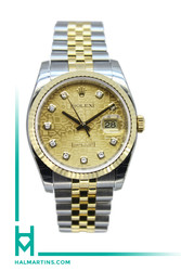 Rolex Two Tone Datejust 36mm - Champagne Jubilee Diamond Dial - Ref. 116233