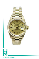 Rolex Yellow Gold Ladies President Datejust - Champagne Dial - Ref. 69178