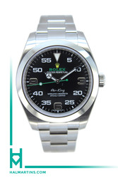 Rolex Stainless Steel AirKing 39mm - Black Dial- Ref. 116900