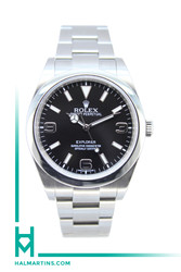 Rolex Stainless Steel Explorer I 39mm - Black Dial - Ref. 214270 (Item 12074Y)