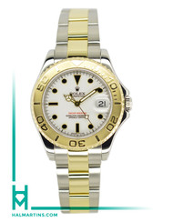 Rolex Two Tone Midsize Yachtmaster 35mm - White Dial - Ref. 68623