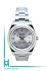 Rolex Stainless Steel Datejust II 41mm - Grey Dial with Blue Arabic Markers - Ref. 1166334