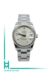 Rolex Midsize Datejust - Stainless Steel - Silver Stick Dial - Ref. 68240