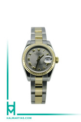 Rolex Ladies Two Tone Datejust - Silver Roman Dial - Ref. 179173