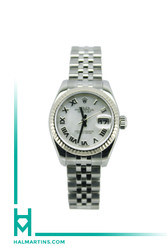 Rolex Ladies Stainless Steel Datejust - Mother Of Pearl Roman Dial - Ref. 179174