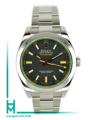 Rolex Stainless Steel Milgauss - Green Crystal and Black Dial - Ref. 116400