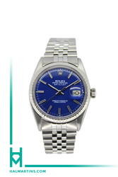 Rolex Stainless Steel Datejust - 36mm - Blue Index Dial - Ref. 1603