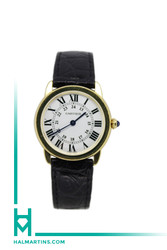 Cartier Ronde Solo - Yellow Gold and Stainless Steel on Strap - 29mm